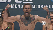Watch the official weigh-in for UFC 189: Mendes vs. McGregor.