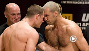 Michael Bisping battles it out with Elvis Sinosic in the Octagon at UFC 70. Catch Bisping in his upcoming fight against Thales Leites in the main event at UFC Fight Night, Glasgow.