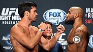 Watch as main event stars Lyoto Machida and Yoel Romero step on the scale at Friday's weigh-in before their bout Saturday night on FOX Sports 1.