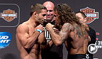 "Featherweight contenders Chad ""Money"" Mendes and Clay ""The Carpenter"" Guida faceoff in an exciting three round fight at UFC 164. Mendes will fight Irish superstar Conor McGregor for the interim featherweight title at UFC 189 in Las Vegas, Nevada."