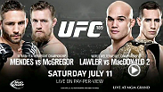 This Saturday night all the talking comes to an end when Chad Mendes and Conor McGregor collide in The Octagon for the interim featherweight title at UFC 189 in Las Vegas, Nevada.