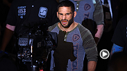 "Megan Olivi interviews Chad Mendes about stepping into the main event, accelerating his training and staying calm during the ""madness"" of the last few weeks. Mendes fights Conor McGregor for the interim featherweight title at UFC 189 in Las Vegas, NV."