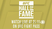 A sneak peek to what's in store during the new-look UFC Hall of Fame induction ceremony, here's the kick-off video that will play in the UFC Theater at the UFC Fan Expo. The UFC Hall of Fame live streams on UFCFIGHTPASS.com at 11am PT/2pm ET on 7/11/15.