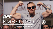 Conor McGregor shares a look at life's luxuries – and some insight into what they mean to him. He and Chad Mendes, Robbie Lawler and Rory MacDonald put on a show for fans at open workouts. Then it's off to Thursday's media day.