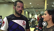 Matt Brown spoke backstage with Megan Olivi about his performance at UFC 189, with a first-round submission win against Tim Means.