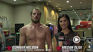 Gunnar Nelson spoke backstage with Megan Olivi about his performance at UFC 189, with a first-round submission win against Brandon Thatch.