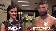 Jeremy Stephens spoke backstage with Megan Olivi about his performance at UFC 189, with a TKO win against Dennis Bermudez.