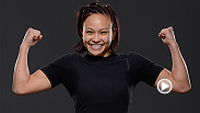 UFC strawweight Michelle Waterson talks backstage at The Ultimate Fighter Finale after her debut victory against Angela Magana in Las Vegas.