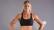 Remaining undefeated, women's bantamweight Holly Holm talks backstage about her fight against Marion Reneau.