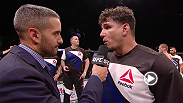 Heavyweight winner Frank Mir talks with Jon Anik inside the Octagon about his knockout victory over Todd Duffee.