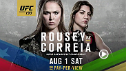 Preview undefeated bantamweight champion Ronda Rousey and her undefeated challenger Bethe Correia as they gear up for their championship bout at UFC 190 August 1, 2015.
