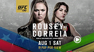 UFC commentator Joe Rogan talks about the main and co-main events of UFC 190 featuring Ronda Rousey vs. Bethe Correia for the women's bantamweight title, and a rematch 10 years in the making between Shogun Rua and Rogerio Nogueira.