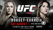 The intensity is building for undefeated bantamweight champion Ronda Rousey and her undefeated challenger Bethe Correia as they gear up for their championship bout at UFC 190 August 1, 2015.