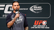 CM Punk takes the stage for a Q&A, immediately following the weigh-ins at UFC Fight Night Chicago.