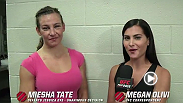 Megan Olivi interviews Miesha Tate backstage after her unanimous decision victory over Jessica Eye at Fight Night Chicago.
