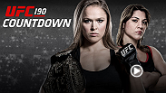UFC Countdown takes you inside the training camps and lives of the stars of UFC 190. Undefeated women's bantamweight champion Ronda Rousey readily prepares to venture into hostile territory to defend her title against undefeated Bethe Correira.