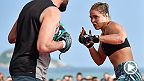 Main event stars Ronda Rousey and Bethe Correia were joined at UFC 190 Open Workouts by Shogun Rua, Rodrigo Nogueira, Stefan Struve and Minotauro Nogueira. All six fighters put on a show and then spoke to UFC correspondent Megan Olivi.