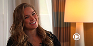 UFC women's bantamweight champion Ronda Rousey gives an emotional interview with UFC correspondent Megan Olivi, touching on her opponent, Bethe Correia, who made remarks about suicide which has fueled the hated rivalry.