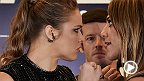 The bad blood continues to simmer at the media day faceoff between UFC 190 headliners Ronda Rousey and Bethe Correia. Watch to see how it went down, and catch their main event fight this Saturday on Pay-Per-View.