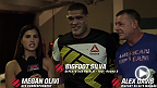 "Megan Olivi interviews Antonio ""Bigfoot"" Silva backstage after his second-round TKO victory over Soa Palelei at UFC 190 in Rio."
