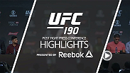 Hear from UFC women's bantamweight champion Ronda Rousey talk about her dominant, 34-second KO victory against contender Bethe Correia at UFC 190 in Rio de Janeiro, Brazil in these post fight press conference highlights.