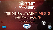Glover Teixeira meets Ovince Saint Preux in a must-see light heavyweight showdown tonight on FOX Sports 1. Also, don't miss the UFC FIGHT PASS prelims starting at 6:30pm/3:30pm ETPT, then head to FS2 for the late prelims.