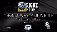 Don't miss Fight Night Saskatoon live and free on FOX Sports 1 at a special time - Sunday, Aug. 23 at 9pm/6pm ETPT. The main event features a huge featherweight bout between Max Holloway and Charles Oliveira.