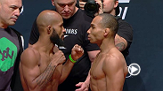 Watch the stars of UFC 191: Johnson vs. Dodson 2 weigh-in before they square off in the octagon Friday, September 5 at 12am BST.