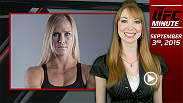 UFC Minute host Lisa Foiles talks with Holly Holm and gets the inside scoop about her conversation with Miesha Tate after the Ronda Rousey fight announcement.