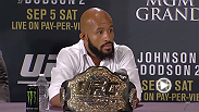 Hear some of the soundbites from the UFC 191 post fight press conference, which included UFC president Dana White, flyweight champion Demetrious Johnson, John Dodson, Ross Pearson and Paige VanZant.