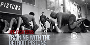 Watch as players from the NBA's Detroit Pistons take in MMA-style training from top UFC stars like joanna jedrzejczyk, Luke Rockhold, Forrest Griffin and others.