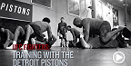 UFC Fighters training with the Detroit Pistons