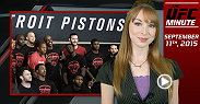 UFC Minute host Lisa Foiles goes to the UFC gym as the NBA's Detroit Pistons learn MMA from top stars like Joanna Jedrzejczyk and Forrest Griffin.