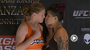 Watch the official weigh-in for Invicta FC 14: Evinger vs Kianzad.