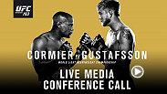 Listen to the media call with the main and co-main event headliners of UFC 192: Cormier vs. Gustafsson live on Friday, September 25 at 2pm/11am ETPT.