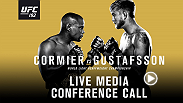 Listen to the media call with the main and co-main event headliners of UFC 192: Cormier vs. Gustafsson live on Friday, September 25 at 7pm BST.
