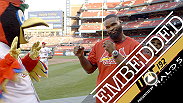 It's a sporting life for Tyron Woodley takes to the Cardinals' mound in St. Louis while Johny Hendricks plays soccer in Texas. Daniel Cormier forgoes bargain burgers for workouts in San Jose, while Alexander Gustafsson works the media in New York City.