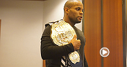 UFC light heavyweight champion Daniel Cormier and challenger Alexander Gustafsson spoke to media about Jon Jones at UFC 192 workout day.