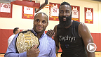 UFC 192: Fighters meet Houston Rockets