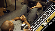 Daniel Cormier trains and gets the word out about his fight while Alexander Gustafsson finds a unique way to relax. Jessica Eye, Johny Hendricks and Rashad Evans all make the journey to Houston and more during UFC 192 Embedded Episode 3.