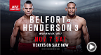 MMA legends Vitor Belfort and Dan Henderson meet at UFC Fight Night in Sao Paulo on Nov 7. Tickets are on sale now.