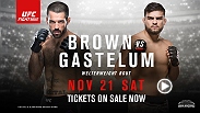Ranked welterweights Matt Brown and Kelvin Gastelum square off at Fight Night in Monterrey, Mexico. Tickets are now on sale.