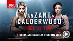 Up-and-coming women's strawweight fighter Paige VanZant headlines UFC Fight Night Las Vegas against Joanne Calderwood. Tickets are available now on Ticketmaster.