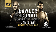 The UFC welterweight belt is on the line at UFC 195 as champion Robbie Lawler and challenger Carlos Condit square off in Las Vegas at MGM Grand Garden Arena.