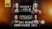 In advance of this event, UFC will host a media conference call with the main and co-main event stars Thursday, Oct. 29 at 2 p.m. PT/5 p.m. ET.