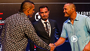 Hear from Fight Night Sao Paulo stars Glover Teixeira, Patrick Cummins, Dan Henderson, Vitor Belfort and see the big staredowns from Ultimate Media Day in Brazil.