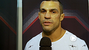 Vitor Belfort reacts after knocking out Dan Henderson in their Trilogy fight at Fight Night: Sao Paulo.