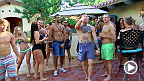 For the first time ever on The Ultimate Fighter, Dana decides to give the fighters a rest and throws them a pool party.