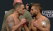 Watch the Ultimate Fighter Finale official weigh-in at 10pm GMT.