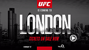 The Octagon returns to London once again. Tickets are on sale now for Fight Night London at the 02 Arena on Feb. 27.